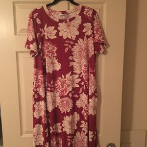 Honey and Lace Wine and Cream Floral Brea Dress